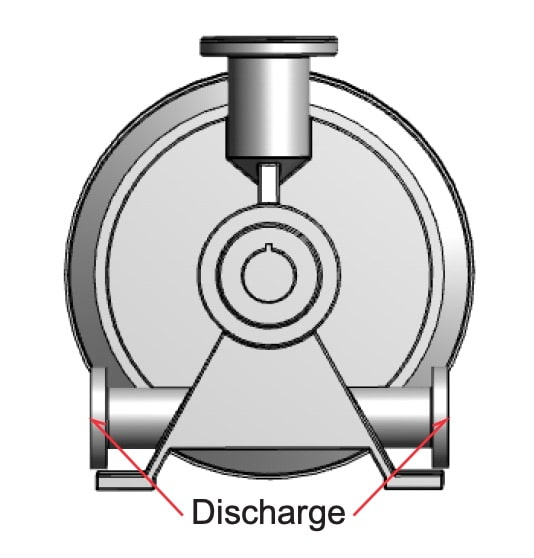 Vacuum pump discharge diagram