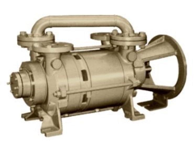 Two stage liquid ring vacuum pump