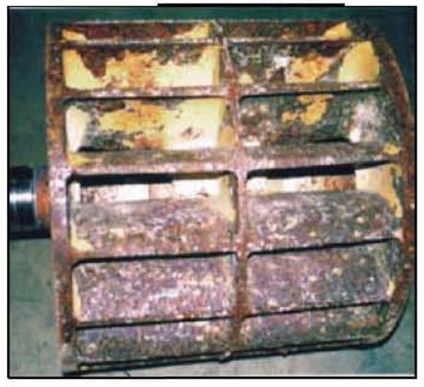 corroded vacuum pump rotor