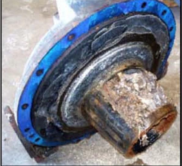 corroded vacuum pump cone